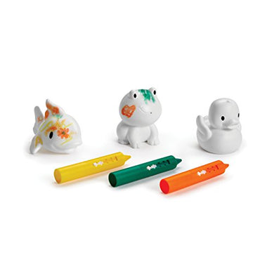 Munchkin Color Me Bath Squirts And Crayon Set, Frog/Fish/Duck