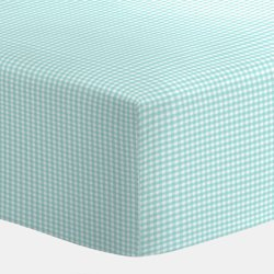Babydoll Gingham Bassinet Sheet, Green, 15X30