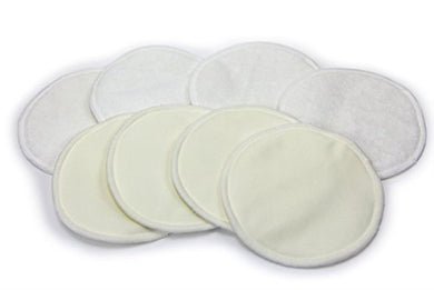 Blowout Sale! Bamboo Nursing Pads (4-Pairs)  Reusable, Washable Breastfeeding Pads  Thin, Discrete, Leak Proof Coverage  Fit All Nursing Bras  Great Baby Shower Gifts For Motherhood