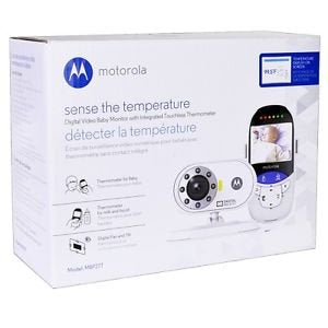 Motorola Mbp27T Wireless Video Baby Monitor + Thermometer Night Vision Camera
