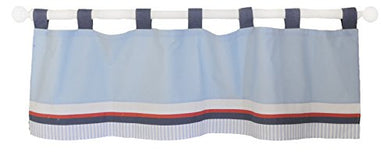 My Baby Sam First Mate Curtain Valance, Blue/Navy/Red/White