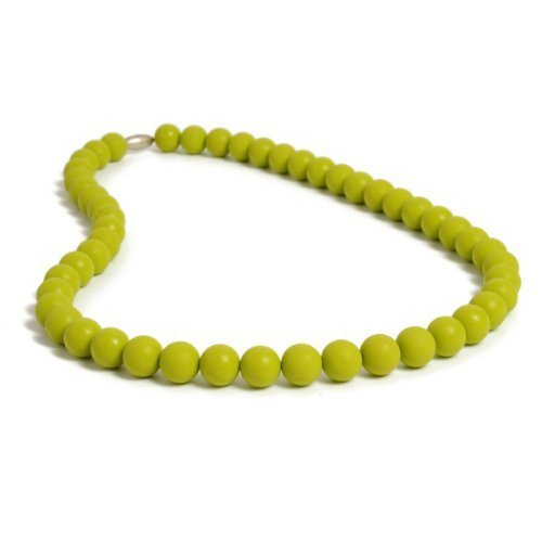 Chewbeads Silicone Rubber Necklace In Chartreuse Green
