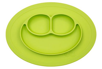 Ezpz Mini Mat - One-Piece Silicone Placemat + Plate (Lime)