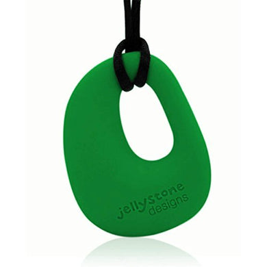Organic Pendant - Silicone Necklace (Teething/Nursing) (Grassy Green) By Jellystone Designs