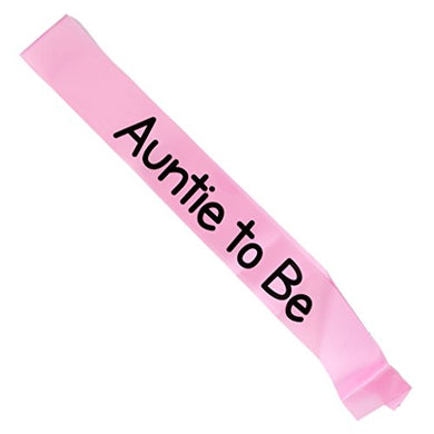 Magideal Auntie To Be Writing Baby Shower Party Sash Pink