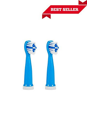 Replacement Toothbrush Heads For Haigerx Kid'S Electric Toothbrush Set Of 2 (Blue)
