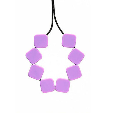 Teething Bling Purple Sugar Cubes Teether Necklace