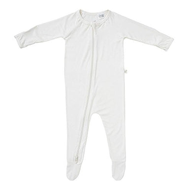 Boody Body Baby Ecowear Long Sleeve Onesie - Soft Blanket Sleeper With Built In Mittens Made From Natural Organic Bamboo - Soft Breathable Eco Fashion For Sensitive Skin - Chalk White, 0-3 Months