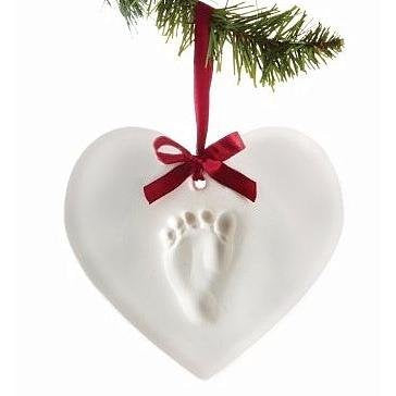 Pearhead Babyprints Baby Handprint Or Footprint Keepsake Ornament - Makes A Perfect Holiday Gift, Heart