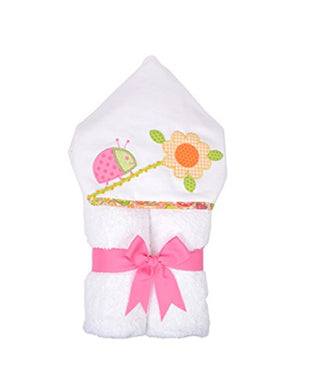 3 Marthas Boutique Everykid Hooded Towel (Pink - Lucky Ladybug)
