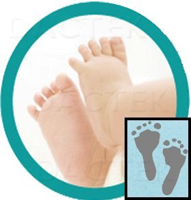 Baby Inkless Footprint Kit With Color Papers (Blue)
