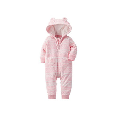 Carter'S Baby Girls'  Fair Isle  Pram Suit - Pink, 9 Months
