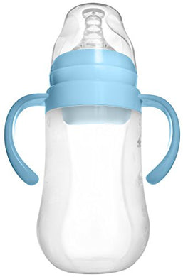 Tinukim Easy Squeeze Silicone Baby Bottle With Handles  Anti-Colic Nursing System (240 Ml)
