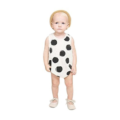 Feitong Baby Boys Girls Polka Dot Romper Jumpsuit Bodysuit Clothes (Age 0-1Y)
