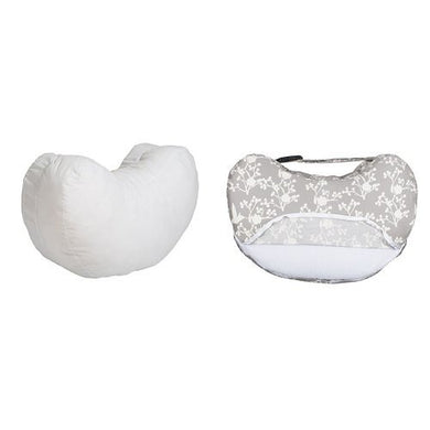 Bebe Au Lait Simple Nursing Pillow And Premium Cotton Slipcover Set, Nest