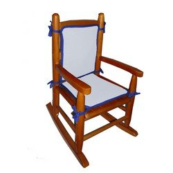 Two Tone Child Rocking Chair Cushion, Color: Blue And Royal Blue