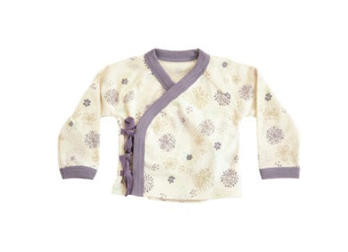 Finn + Emma Baby Girl Organic Cotton Kimono Top 9-12M - Flower By Finn + Emma