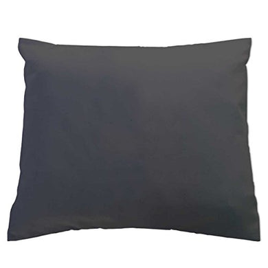 Sheetworld Crib/Toddler Flannel Baby Pillow Case - Dark Grey - Made In Usa