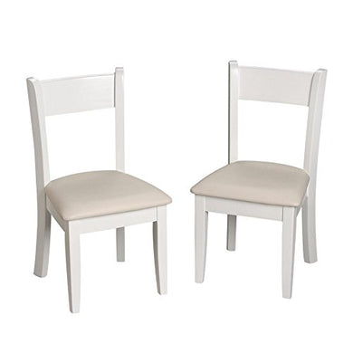 Giftmark Children'S White Chair Set With Upholstered Seat