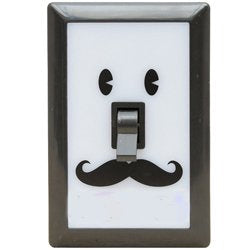 Time Concept Smiley Face Light Switch Nightlight,Black
