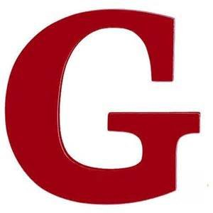 8-Inch Wall Hanging Wood Letter G Red