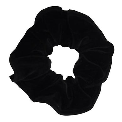 Obersee Kids Hair Tie Scrunchie, Black Velvet, One Size