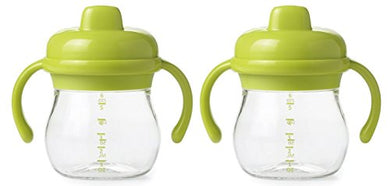 Oxo Tot Transitions Sippy Cup With Removable Handles (Green/Green)