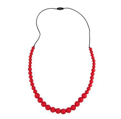 Teething Bling Red Graduates Teether Necklace
