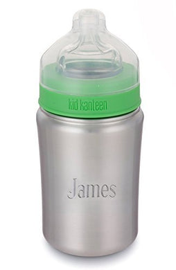 Personalized Klean Kanteen Brushed Stainless Steel 9Oz Kid Baby Bottle With Free Engraving