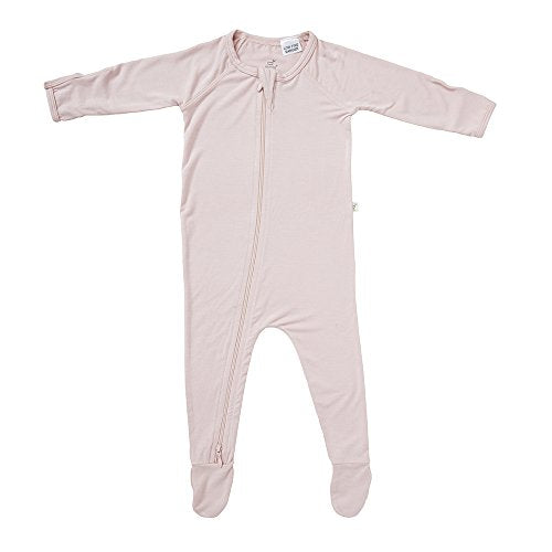 Boody Body Baby Ecowear Long Sleeve Onesie - Soft Blanket Sleeper With Built In Mittens Made From Natural Organic Bamboo - Soft Breathable Eco Fashion For Sensitive Skin - Rose Pink, Newborn