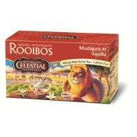 Celestial Seasonings Madagascar Vanilla Rooibos Tea, 20 Count