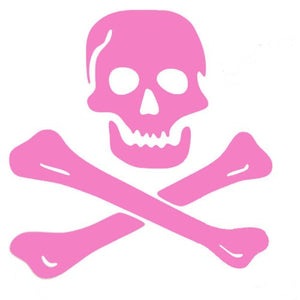 Pirate Skull And Crossbones Large Wall Decal Sticker Pink 22
