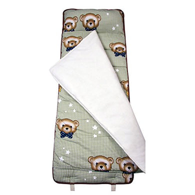 Soho My Cuddly Bears Nap Mat For Toddler Preschool Day Care With Pillow Lightweight Rolled Nap Mats