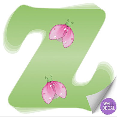 Wall Letters Z Green Pink Ladybug Letter Stickers Alphabet Initial Vinyl Sticker Kid Decals Children Room Decor Baby Nursery Girl Bedroom Decorations Child Names Personalized Decal Graphics Ladybugs