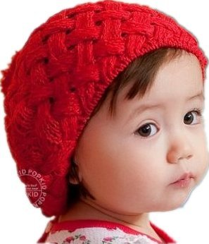 Winter Warm Cute Baby Infant Kids Girls Caps,Apple Cake Hat,Red