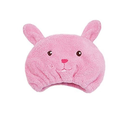 Auch 1Pcs Adjustable Plush Cute Animal Baby Hair Drying Hat Super Absorbent Towel Adjustable Infant Shower Bath Cap For Kids Boys Girls From 1 To 12 Yrs, Pink Rabbit