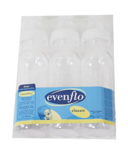 Evenflo 8 Oz. Clear Nursers - Clear, One Size