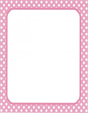 White &Amp; Pink Polka Dot Stationery Printer Paper 26 Sheets