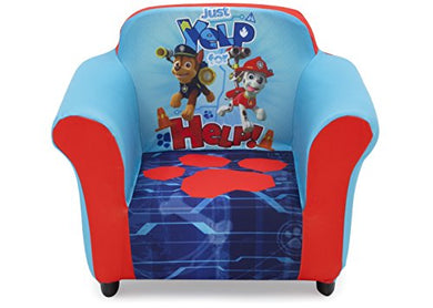 Delta Children Plastic Frame Upholstered Chair, Nick Jr. Paw Patrol