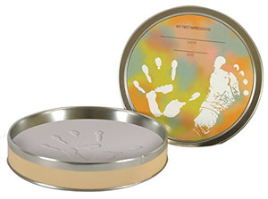 Stephan Baby Tiny Treasures Clay Handprint/Footprint Kit In Keepsake Tin
