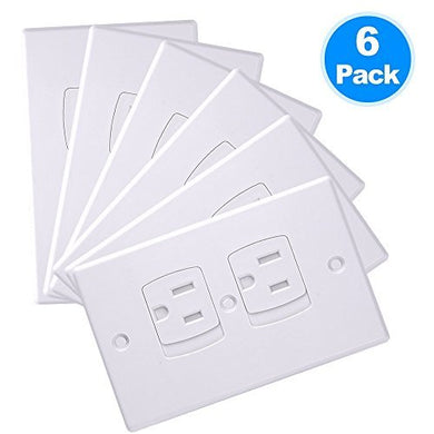 Lumenon Safety Self-Closing Electrical Outlet Covers Wall Socket Plugs Plate Alternate For Child Proofing