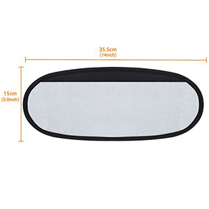 Wanpool Anti-Glare Anti-Dazzle Vehicle Visor Sunshade Extender Sun Blocker For Cars, Vans And Trucks (Silver) - 2 Pieces