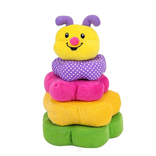 Sealive Rainbow Stacking Rings For Kids Baby,Soft Stuffed Baby Cloth Block Unisex Plush Stacking Toy Educational Learning Toys Rainbow Stack Up Toy