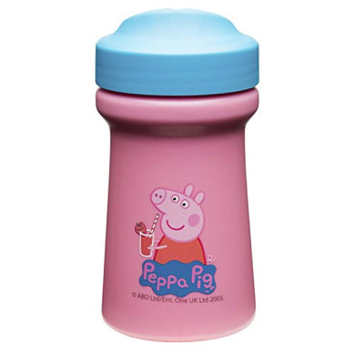 Zak Designs Toddlerific Perfect Flo Toddler Cup With Peppa Pig Graphics, Single Wall Construction And Adjustable Flow Technology