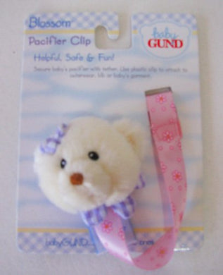 Gund Blossom Pacifier Clip Retired - Plush Sports Gift 58510-So13134