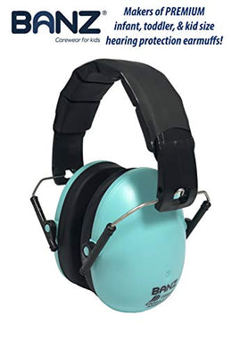 Banz Earmuffs Hearing Protection  The Best Earmuffs For Kids  Premium Kids Ear Muffs - Block Noise - Teal