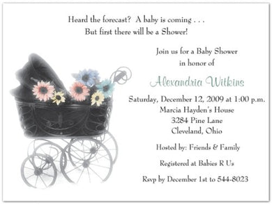Anticipation Baby Shower Invitations - Set Of 20
