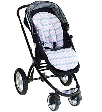 Universal Pram Liner &Amp; Harness Covers, Pink Chevron - Bambella Boutique Designs