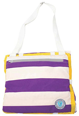 Palm Beach Crew Brilliant Blanket And Wet Bag Game Day Collection, Purple/Gold