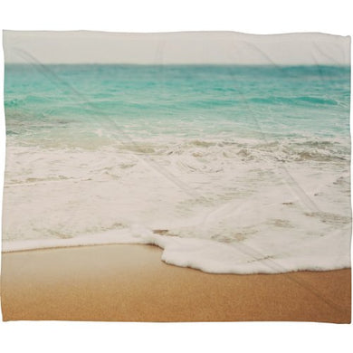 Deny Designs Bree Madden, Ombre Beach, Fleece Throw Blanket, Large, 80  X 60